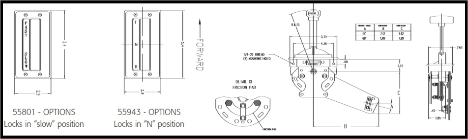 Friction Control Lever : Friction throttle control